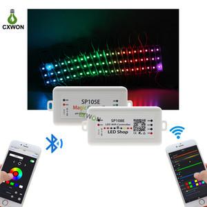 LED 스트립 라이트 컨트롤러 SP105E SP108E 와이파이 블루투스 4.0 지원 IOS / 안드로이드 APP WS2811 2812 2801 6803 IC LED 스트립 픽셀 컨트롤러
