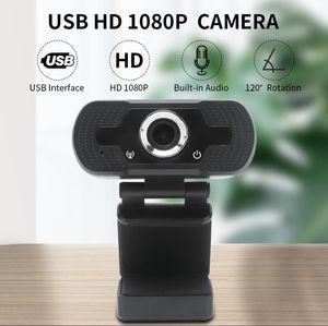 HD Webcam embutida dupla Mics inteligente 1080P Web Camera USB Pro Fluxo Camera for Desktop Laptops PC Game Cam Para SO Windows hwjh xKwMI