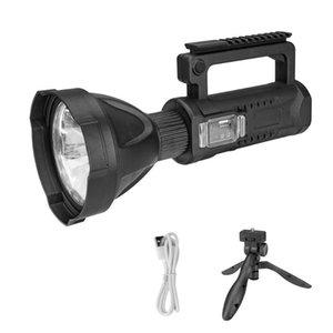 P50 Светодиодный свет поиска Встроенная аккумуляторная батарея факел 4 Режимы ламповой с Штатив Camping Light Emergency Lamp