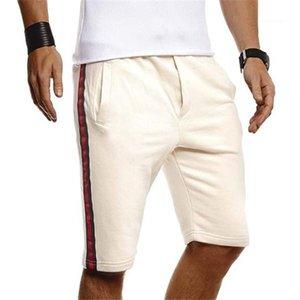 Colore Sport di lunghezza del ginocchio pantaloni casual maschile Homme brevi pantaloni a righe Mens Shorts Estate allentata Patchwork