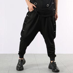 2020 summer fashion Hair Stylist night entertainment venue personality metal harem pants Drop-crotch pants