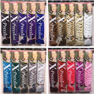 atacado Xpression tranças 82 polegadas 165g pacote sintética Kanekalon cabelo Crochet Tranças única cor Premium cabelo Braid Ultra jumbo