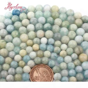 """8mm 10mm Round Ball Mutilcolor Blue Aquamarines Natural Stone Beads For DIY Bracelets Necklace Jewelry Making 15"""" Free Shipping"""