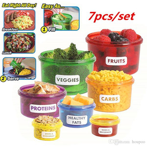 Perfect Portions Control Containers Food Storage Lunch Boxes Mini-Bowl Tableware Box Dinner Plates Household Supplies Kitchen Accessories