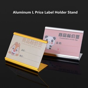 Aluminum Alloy L Shape Small Products Price Tag Table Price Label Card Display Holder Stand