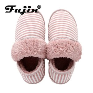 Fujin тапочки женщин обувь зима Твердая Пушистый платформы Fur Sole Luxury Мулы Дамы Слайды партии сандалии Zapatos De Mujer