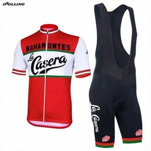 새로운 2020 라 Casera Bahamontes 팀 사이클링 저지 설정 반바지 사용자 정의 도로 산 경주 고전 OROLLING의 gR1j 번호