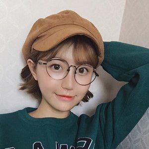 women's winter autumn Korean style fashionable casual all-match suede beret beret Octagonal hat fashionable octagonal hat