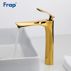 Frap New Arrival Basin Faucet Torneira Bathroom Basin Tap Cold & Hot Water Mixer Spray paint Golden Faucets Bath Sink Tap Y10095