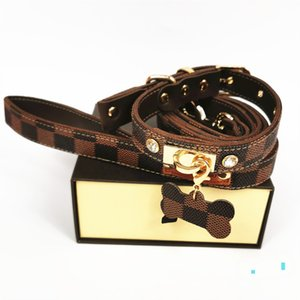Black Brown Plaid Pattern Pet Collar Creative Pattern Lovely Pet Leashes Outdoor Street Style Pet Dog Cats Collars & Leashes