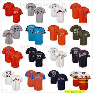 2019 Men Women Youth Astros Jersey Jose 27 Altuve Jersey White Gray Grey Blue Orange Gold Green Salute to Service Players Weekend All-Star