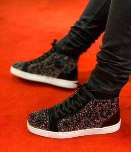 2020Beautiful Hightop Sneaker verzierte Spiked Toe Rantus Orlato Lovers Designer gute Qualität beiläufige Schuh-Turnschuhe Wholesale freies Verschiffen