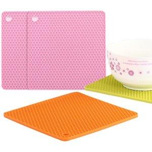Sıcak yemeğin Silikon Sac Ayağı ve Pot Sıcak Pedler Sayaç Mat Isıya Dayanıklı Tablemats veya Placemats MY-inf0048