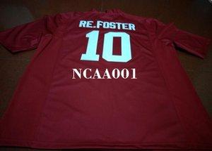 Hommes # 10 Reuben Foster Alabama Crimson Tide College blanc rouge noir Jersey ou sur mesure tout maillot de nom ou le numéro