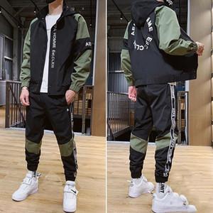 2020 NUEVO Diseñador Traje Traje para hombres Trajes de jogging Autumn Mens Jogger Trajes Jacket + Pantalones 2pc Luxury Men Designer Traje Hombre Ropa masculina