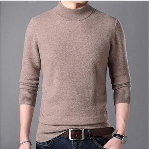 Pullover dolcevita mezza maglione di cachemire vestiti per autunno inverno Sueter hombre veste di tiro homme hiver mens maglione-a
