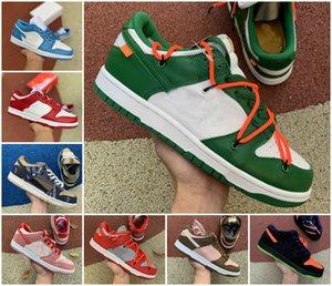 2020 Travis Scotts x SB Dunk Low QS Hommes Courir Sports Chaussures Chunky Dunky Safari Sneakers nuit de méfait pin chaussures vertes planche à roulettes
