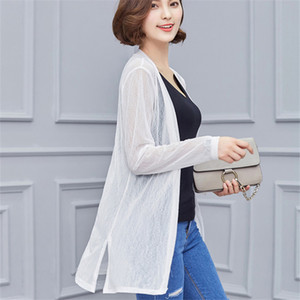 Blouse Shirt Women's New Sweater Casual Crochet Holidays Loose Spring Summer Cardigan Tops For Woman Sexy Blouses Blusas T200716