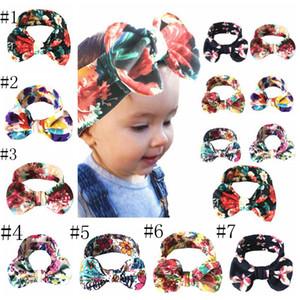 عقال القوس الطفل عقال الأزهار فتاة bowknot hairbands القطن غطاء الرأس مطاطا الأطفال turbans الوليد أغطية الرأس اكسسوارات للشعر LSK425