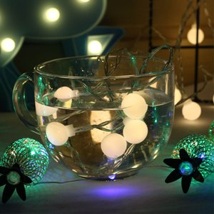 LED light string remote control waterproof powered by battery ball string lights room lighting decoration white ball lantern