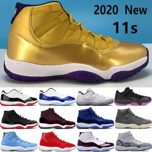 Yeni 11 11'ler Jumpman basketbol ayakkabıları SE metalik altın düşük beyaz bordo doruk gri Kadife Heiress Mavi erkekler kadınlar Sneakers yetiştirilen yetiştirilen