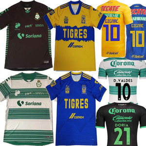 2021 Meksika Liga 7 Yıldız Tigres Uanl Gignac Santos Laguna Valdes Mens Futbol Formaları Furch Camiseta de Foot Veracruz Futbol Gömlek 20 21