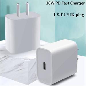 18 Вт PD Type C Оригинальная оболочка Высокое качество OEM Упаковка быстрого зарядного устройства для 8-11 PRO MAX X XR USB-C Универсальный быстрый зарядный кабель