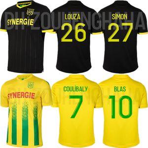 Ayak COULIBALY Futbol Formalar 2020 21 BLAS LIMBOMBE A TOURE Louza SIMON EMOND Futbol gömlek de FC Nantes Maillots
