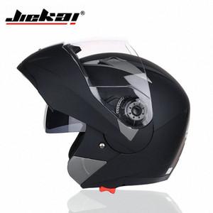 JIEKAI La vibrazione Motorcross del motociclo casco della motocicletta Motocross Con interno Sun Visor QPuH #