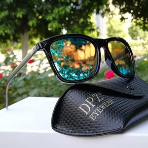 2019 DPZ Band Polarized Sunglasses Men Driving Square Black Frame rays Sun Glasses For Men Women Oculos Gafas with case MX200619