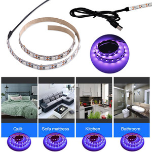 0.5m 1m led lights UVA+UVC LED Disinfection Lamp USB 5V strip lights for Home Clean Air Kill Mites Ultraviolet Lighting.