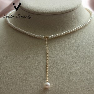 Pearl Necklace Pearl Beads Choker Beaded Necklaces Pendant Necklace Dainty Charm Jewelry for Girls Party Wedding