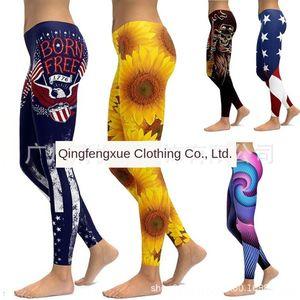 women's 3D printing breathable dance Sports high elasticity Dance yoga pants hip slim yoga pants