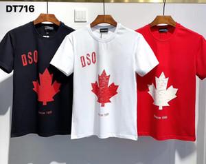 DSQ PHANTOM TURTLE T-shirts New Mens Designer T shirt Paris fashion Tshirts Summer DSQ T-shirt Male Top Quality 100% Cotton Top 6130