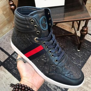 Men &#039 ;S Ace Signature High Top Sneaker Mens Shoes Fashion Outdoor Walking Top Quality Shoes Lace -Up Vintage Casual Men Boots With Orig