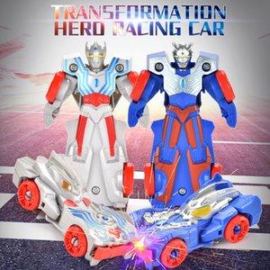 Misteriosa cápsula de transformación de juguetes modelo héroe coche de carreras de cuatro colores regalos frescos populares para los niños para la diversión