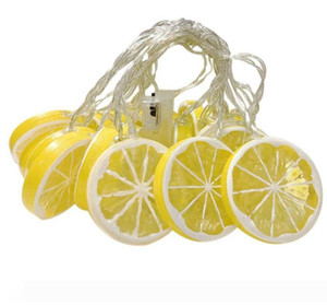 Moda ışık dize yaz meyvesi dekorasyon oda pil kutusu dize ışık limon dilim kız kalp led şerit led