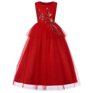Pink Kids Flower Girl Dresses Pleated Tulle Thin Shoulder Strap Lace Applique Princess Pageant Wedding Party Dresses