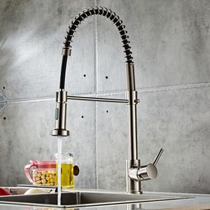 The Kitchen Sink Evye Bakır Musluk pull-down Tek kolu Musluk Çift fonksiyonlu Nozul Can Döndür ve uzatın