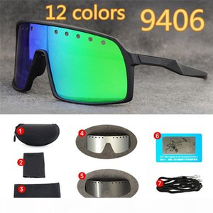 Cycling Glasses New Mountain Bike Day And Night Windproof Polarized Lens Sunglasses 8 Pieces Set With Box OK9406