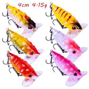 1pc 6 Color Mixed 4cm 4.15g Cicada Hard Baits & Lures 10# Hook Fishing Hooks Fishhooks Pesca Fishing Tackle BL_108