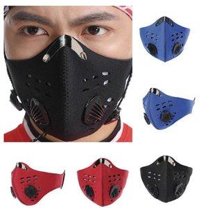 Maschera antipolvere Biking bici Fronte Con carbone attivo Uomo Donna Podismo Ciclismo anti-fog viso maschera protettiva YYA212