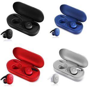 سماعات الأذن ستيريو TWS سماعات بلوتوث البسيطة مع ميكروفون الشحن صندوق BT 5.0 المحمولة التوائم صحيح سماعة الرياضة اللاسلكي مع صندوق البيع بالتجزئة