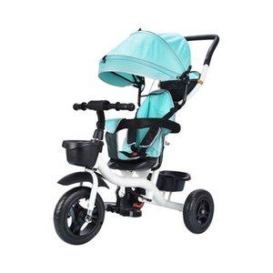 3 1 Bebek Arabası Katlama Çocuk Tricycle Hafif Bebek Arabası 3 Wheels Bisiklet Çocuk Bisikletleri Üç Teker Arabası
