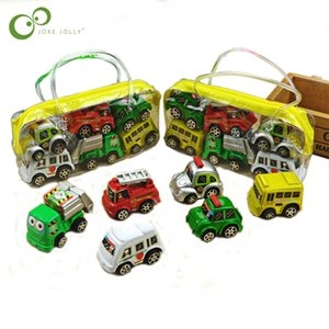 6pcs set New Classic Boy Girl Truck Vehicle Kids Child Toy Mini Small Pull Back Car toys plastic colorful car toy