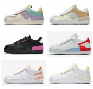xshfbcl 2020 New One 1 Shadow Womens Running Shoes 1s Pretty Pale Ivory Celestial Gold-Tropical Twist Sneakers