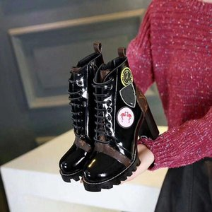 2020 High Platform Fur Boots for women Real leather Fashion Designer Hot Women's Combat Booties Female NM01