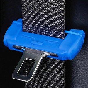Boucle de ceinture de sécurité de voiture universel Protecteur en silicone anti-rayures ceinture de sécurité Boucle clip Intérieur Button anti-rayures couverture ENDAN #