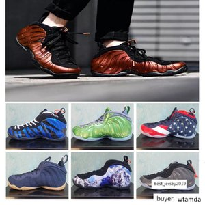 Hot Sale!! Foam one Pro Tan Copper Black Red Gum OG Royal Sequoia Mens Basketball Shoes Penny Hardaway Foams 1 Sports Sneakers Size40-47