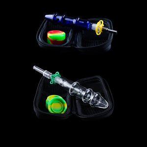 NC006 10mm의 유리 버블 키트 티타늄 석영 세라믹 네일 유리 물 봉 유리 핸드 파이프 Dabbers